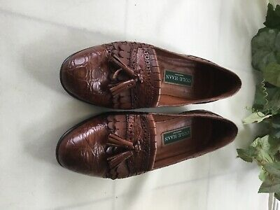 9d342432371 Cole Haan Camel Brown Kiltie Tassels Leather Loafers Made in Italy 7.5 AA