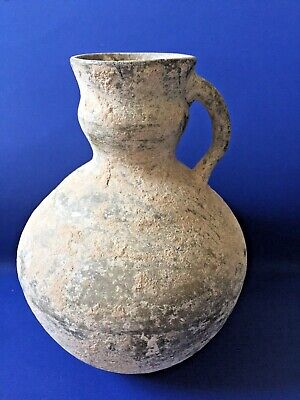 Luristan Clay Water Pottery Jug with Handle