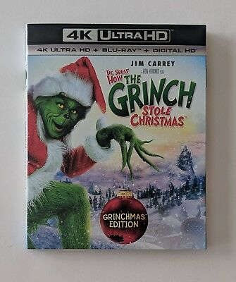 Dr. Seuss' How the Grinch Stole Christmas (4K Ultra HD Blu-ray, 2017)