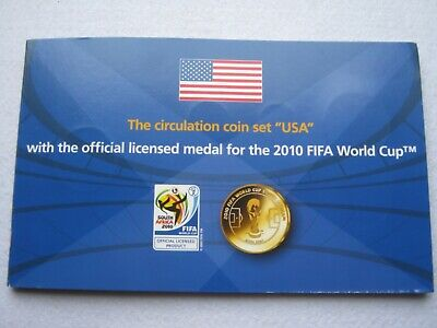 USA - The Circulation Coin Set with 2010 FIFA World Cup Medal coin