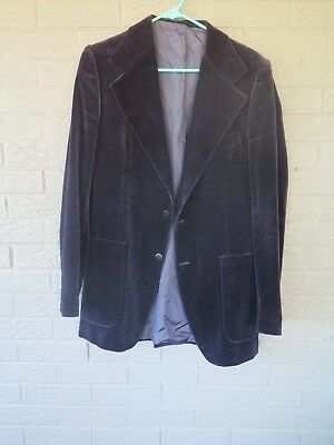 Vtg Ysl Yves Saint Laurent Blue Velvet Blazer Size 38 Unmarked Slim Fit