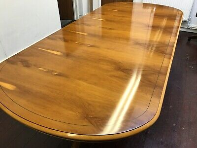 7.3ft Designer Art Deco style Burr Yew tree dining table Pro French polished