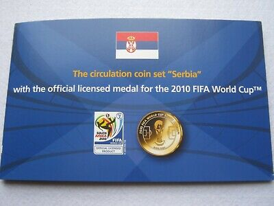 Serbia - The Circulation Coin Set with 2010 FIFA World Cup Medal coin