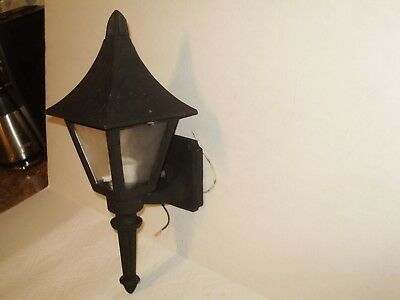 Antique 1940'S Tudor Heavy Cast Iron Outdoor Light Fixture! Nice Ornate Design