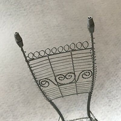 Exquisite Victorian Miniature Antique Garden Chair Salesman Sample Doll House 3
