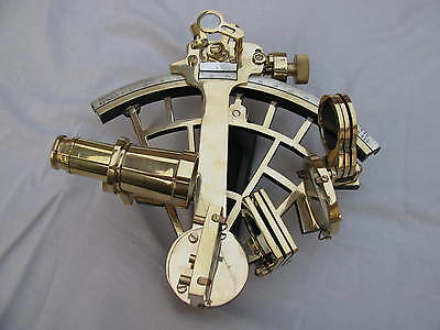 Solid Brass Sextant Marine Heavy Handheld Working Ship Astrolabe NautiIcal Decor