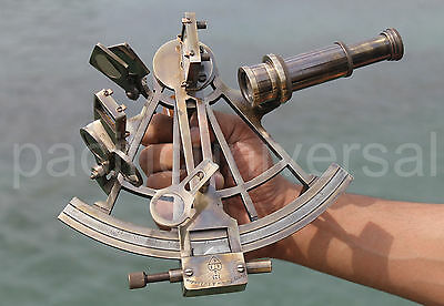 """8"""" Solid Brass Sextant Nautical Working Instrument Astrolabe Ships Vintage Gift."""