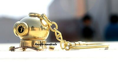 Marine Keychain Diving Helmet Maritime Keyring Brass Keychain Item For Gifted