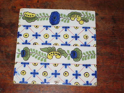 Dutch Thomas Elsley Polychrome Delft Tile Circ 1880S W Morris Interest