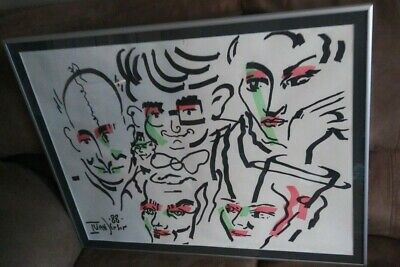 Ivan Jenson Original Pop Art Painting by Listed Artist Signed and Dated 1988