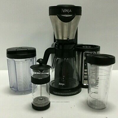 Ninja CF082 Hot and Cold Coffee Bar with Glass Carafe and Auto-iQ 18 oz