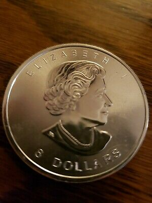 1.5 oz 2015 $8 Canadian Silver Maple Leaf Coin Extra-Thick Uncirculated .9999 Fn