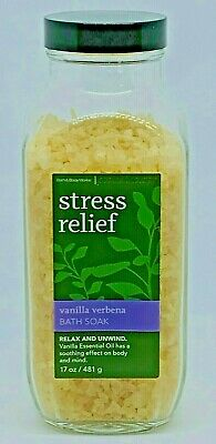 Bath & Body Works Aromatherapy Stress Relief Vanilla Verbena Bath Soak Sea Salts