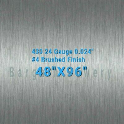"""48"""" X 96"""" 430 Stainless Steel Sheet Wall Covering, 24 Gauge 0.024"""""""