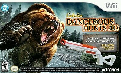Cabela's Dangerous Hunts 2013 w/ Gun for Nintendo Wii Game Systems NEW & SEALED