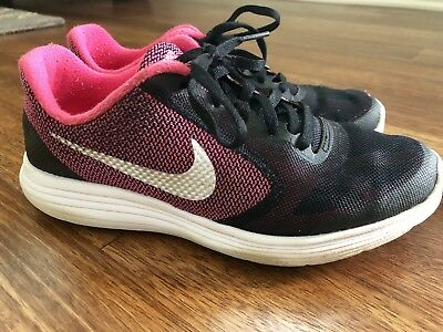 65e1ca34a81 NEW NIKE REVOLUTION 3 (GS) Running Shoe Youth sz 6 Pink Silver Black ...
