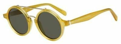 6241d53ae4e88 NEW CELINE CL 41436 086 Thin Ella Dark Havana Gold Plastic ...