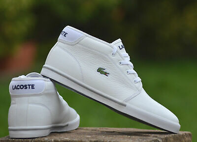 Trainers Mens Boots 00new Ampthill Lacoste Bgraderrp £80 Ankle White WH2eYbI9ED