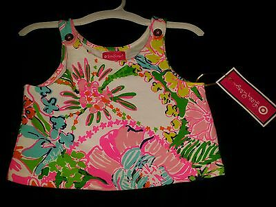 Lilly Pulitzer for Target Girls Floral Top Nosie Posey Crop Tank Size M 7 8 NWT