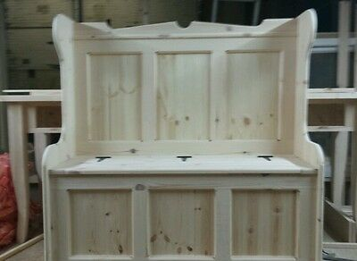 122cm wide  Church pew / Monks bench Settle  with storage Courier available