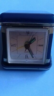 Vintage Retro 1970s Barclays Bank Barclaycard Advertising travel alarm clock.