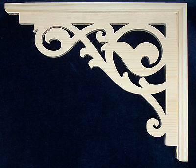 "L&G'S Victorian Pine Gingerbread Fretwork Brackets 10"" SET"
