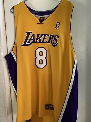 cac403fd975 USED Nike Dri-Fit Authentic LA Lakers Kobe Bryant 8 Jersey Sz 56 3XL