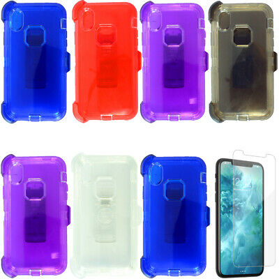For Apple iPhone XR/XS Max Clear Case W/Screen(Belt Clip fits Otterbox Defender)