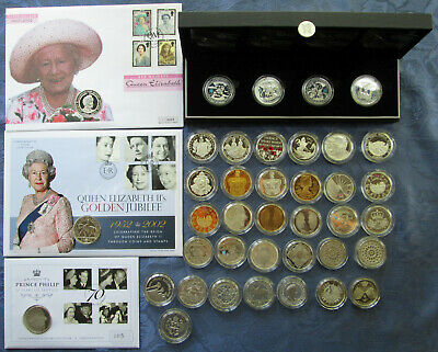 UK Silver Proof Commemorative £5 Pound Crown Coins, .925 Silver, Some Piedfort