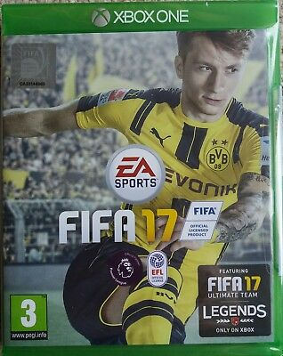 XBOX ONE FIFA 17, EA Sports, UK PAL, Microsoft, Featuring Legends, New + Sealed