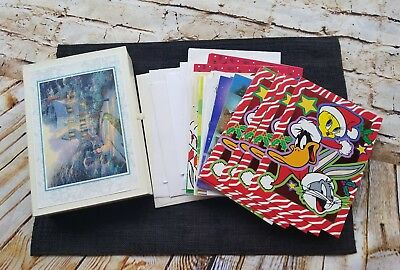 Vintage Greeting Cards Holiday + Card Box + Envelopes Crafts Scrapbook Unused