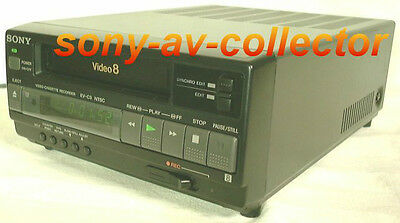 PLAY Video8 Video 8 8mm Tapes w/ Sony EV-C3 Player Recorder VCR Deck EX
