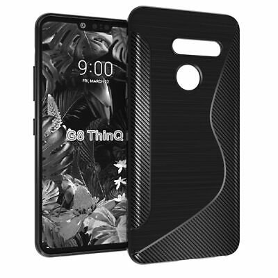 Ultra Thin Soft TPU Silicone Jelly Bumper Back Cover Case for LG G8 ThinQ
