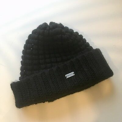 OGE & CO One Green Elephant Black Wooly Beanie Hat