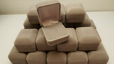 Jewelry Boxes Gray Flocked Ring Box 24 QTY #1875