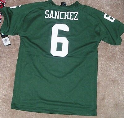 a7df89a6067 NEW NFL Mark Sanchez NY New York Jets Football Jersey Youth L Large 14 16  NWT