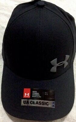 detailed look bce32 8fae0 Under Armour Men s Golf Cap NWT Classic Stretch Fit Size Large XL UPF 30  Black