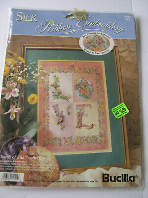 Bucilla Silk Ribbon Embroidery Kit Love 41021 Touch of Silk Collection  Unopened