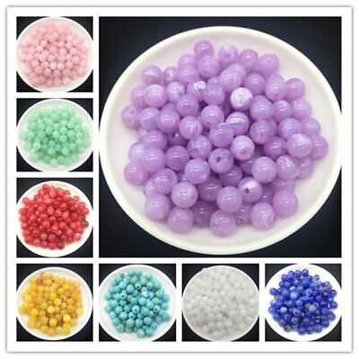 Bead Round Acrylic Clouds Spacer Loose Craft DIY Fashion Necklace Jewelry Making