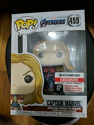Funko Pop! Avengers Endgame: Captain Marvel Entertainment Earth (NO CARDS)