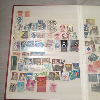 Huge International Stamp Collection with 2 Albums- Hundreds of Stamps!