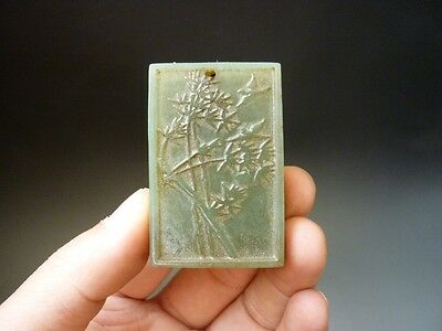 Chinese , jade,noble collection, manual sculpture, jade, bamboo, pendant B43