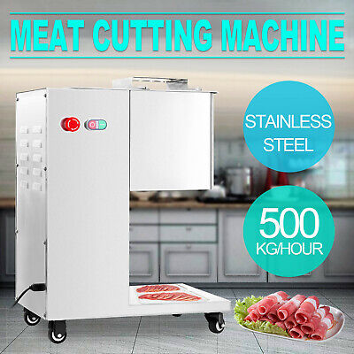 Commercial 220V 550W Stainless Steel Meat Cutting Machine Tool Cutter Slicer