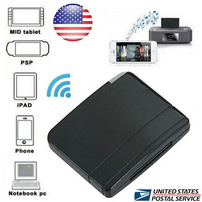 Mini Wireless Bluetooth Music Receiver Adapter to 30-Pin Speaker for iPod iPhone