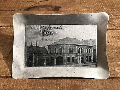 RARE Antique F.H & A.H Chappell Co New London Conn COAL Tip Tray Sign