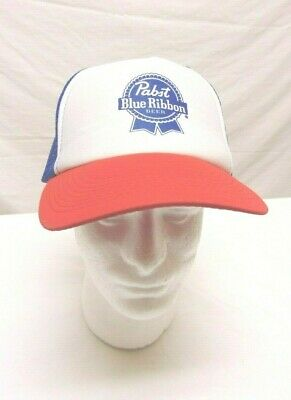 Retro PBR Trucker Hat Pabst Blue Ribbon Beer Cap Snapback Mesh Baseball Cap