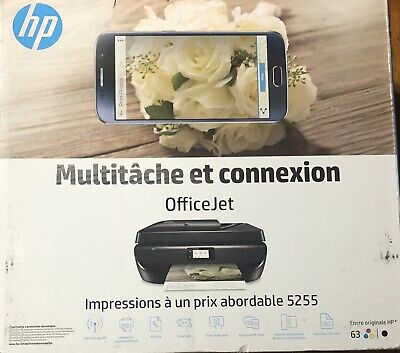 HP OfficeJet 5255 Wireless All-In-One Wi-Fi Thermal Inkjet Printer, Energy Star