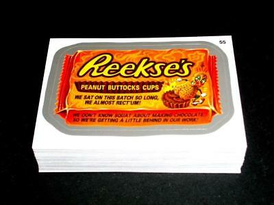 2014 Wacky Packages Series 1 Silver Border Complete 55 Sticker Set NM/MINT