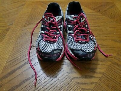 Women Asics Running Shoes Gel Cumulus 14 Berry Black White