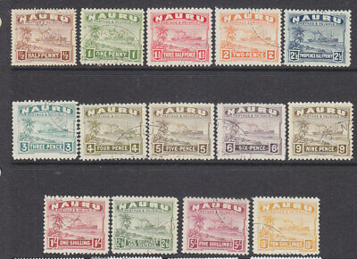 Nauru 1924-48  set fine used